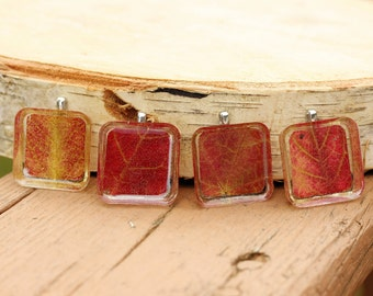 Real Leaf Jewelry, Autumn Necklace, Real Fall Leaf Resin Pendant, Fall Jewelry, Resin Jewelry. Maple Leaf Pendant, Choice of One (1) Pendant