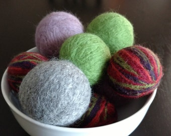 100% New wool dryer balls (felted)