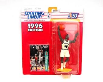 Vintage NBA David Robinson San Antonio Spurs Starting Lineup Figurine Basketball Card Kenner Toy 1996 Edition Sports Memorabilia Collectible