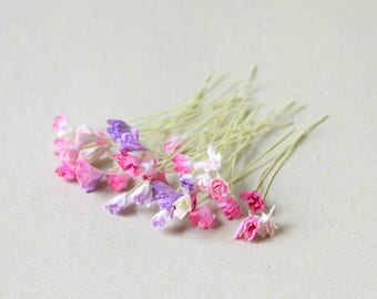 8-10 mm /  40  Mixed colors of  Gypsophila   Paper Flowers , Baby's breath   Paper Flowers