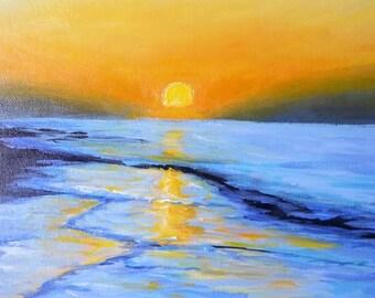 Emerald Isle Dawn I 12x12 Acrylic Wrapped Canvas