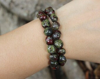FREE SHIPPING Dragons blood bead bracelet