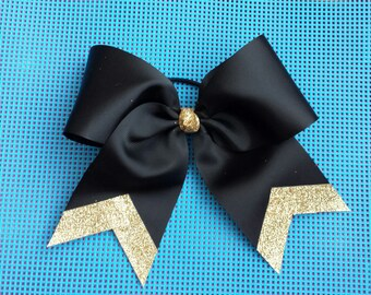 Black and Gold Sparkle Bow
