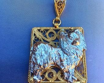 Papillon Dog Necklace Pendant