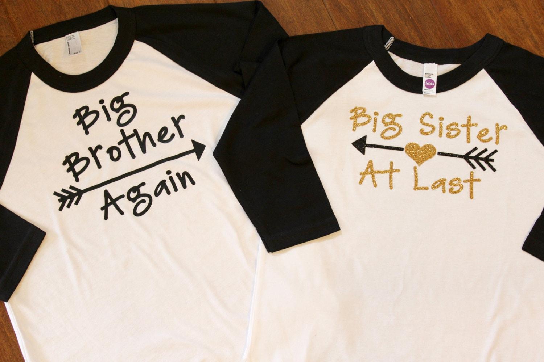 big sister shirt big brother again big sister at last big. Black Bedroom Furniture Sets. Home Design Ideas