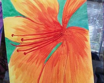 Watercolor Flower 9x12