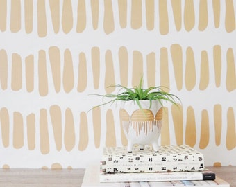 """Wallpaper 24"""" x 48""""  Elongated Prints  Removable wall paper tile - Wall Paper"""
