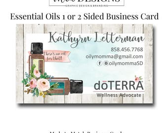 Essential Oils Business Cards, Oily Rep Card, Business Card Design 2, Business Card Template, Business Card, Custom Busienss Card