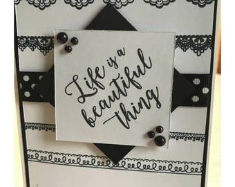 Life Is A Beautiful Thing All Occasion Blank Handmade Greeting Card