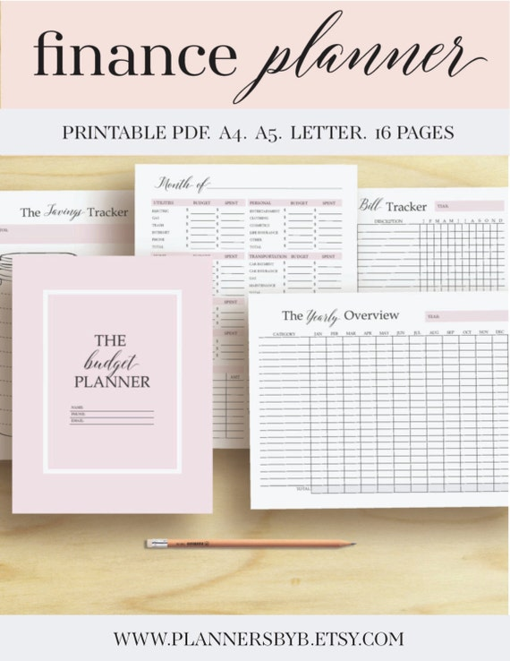 Finance Planner Money Organizer Finance Printable Budget