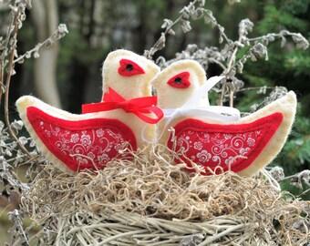 Couples Gift Birds Ornaments Anniversary Gifts Wedding Gift for Women Love Birds Christmas Ornaments Felt Bird Christmas Decorations CIJ