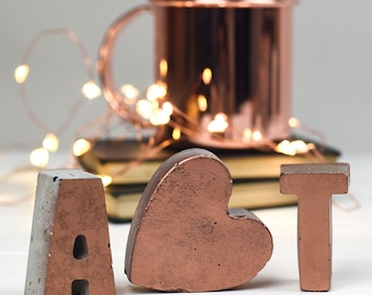 Copper Letters – 7th Anniversary – Copper home – Wedding gift – housewarming gift  – Mothers - Alphabet Letters - Copper Anniversary