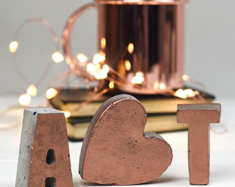Copper Letters – Initials – Copper home decor– Copper letters– Copper – Wedding gift – housewarming gift  – Mothers Day Gift