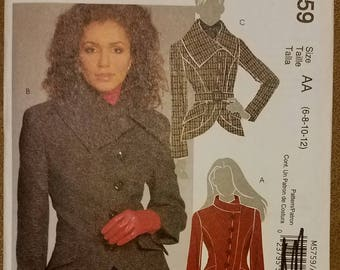 McCall's 5759 - Misses' Lined Jacket Pattern - Sizes 6, 8, 10, and 12 - Ladies and Women's Jacket Pattern
