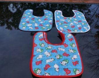 Super Absorbent Triple Layer Bib/Bavettes bébé super absorbantes, triple couches