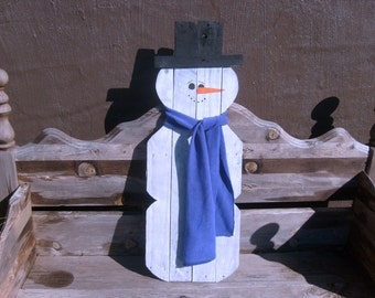 Pallet Wood Snowman