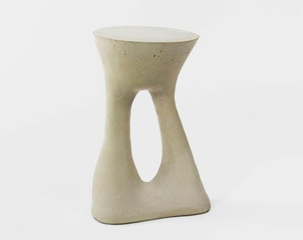 Designer, Concrete, Grey, Modern, Side Table, Contemporary, Furniture, Handmade, Living Room, Sleek, Bedroom, One of a Kind, Kreten, Tall