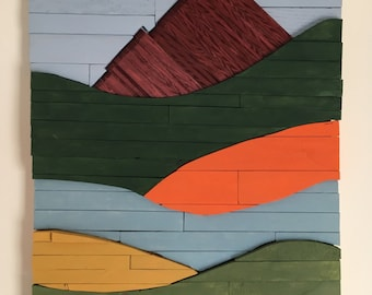 Wood wall art | Rolling Hills No. 2