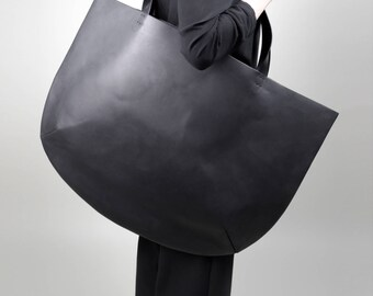 Tote bag Women tote Shopping bag Black tote Leather tote Shoulder bag Leather shoulder bag Big leather bag Mans leather tote