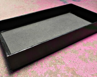 Black Faux Leather Jewelry Display Trays (lot of 10) - destash