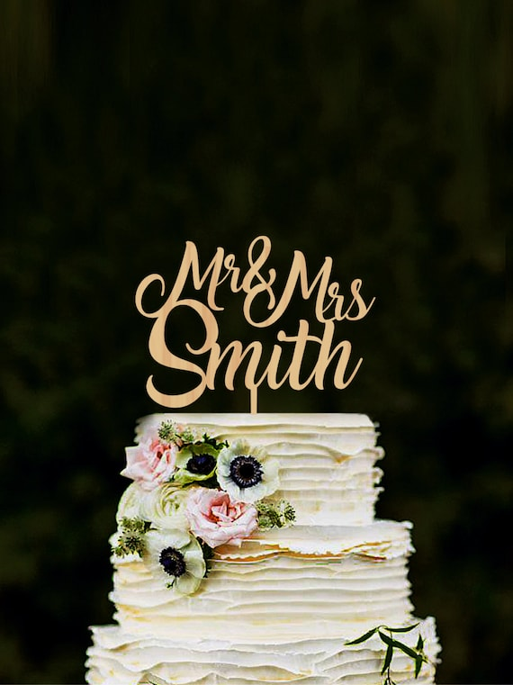 rustic wedding cake toppers cake topper for wedding custom mr amp mrs name cake topper 7207