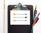 Gold Foil Print ARROWS  - Metallic Gold