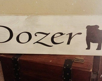 Personalized Dog name sign with breed silhouette
