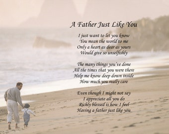 Personalized Poem A Father Just Like You