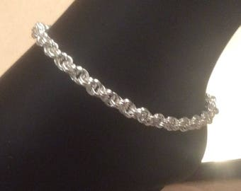 Spiral Anklet Chainmaille HANDMADE WITH LOVE