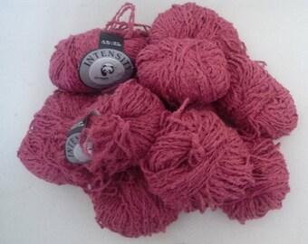 10 balls Fuchsia viscose linen blend