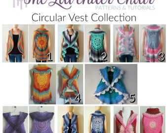 Circular Vest Collection *PDF FILES ONLY* Instant Download