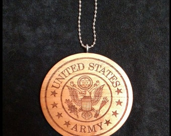 Army Crest car medallion