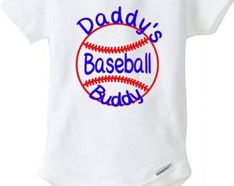 Daddy's baseball buddy, Baby onesie, bodysuit, baseball, onesie