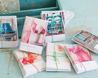Cards cards-set pink and blue
