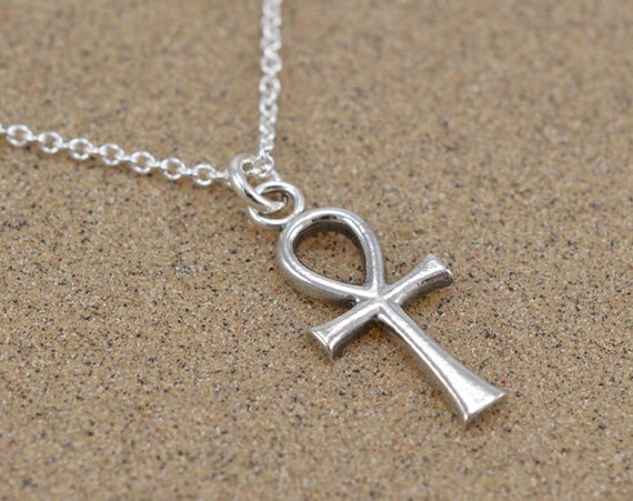 Ankh pendant ancient egyptian key of life sterling silver aloadofball Choice Image