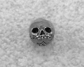 Green Girl Studios Mini Skull Pewter Bead