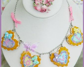Cookies Necklace / Sweet Necklace / Kawaii Necklace / Miniature Food