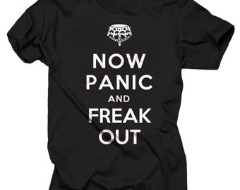 Halloween Party Costume Now Panic And Freak Out Hooded Sweatshirt Halloween Party