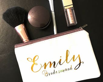 Personalized Gift, Personalized makeup bag, Gift for Her, bridesmaid gift, custom bag, Custom Makeup Bag,Personalized Name Bag
