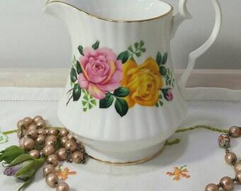 Vintage bone China creamer or milk jug made from Windsor bone China 1950's
