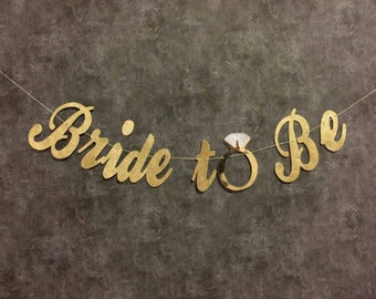 Soon to Be Mrs, Bride to Be Banner, Miss to Mrs, Bridal Banner, Reception Banner, Wedding Banner, Glitter Banner, Photo Prop