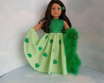 St Patrick's Gown 18 inch doll clothes - #242