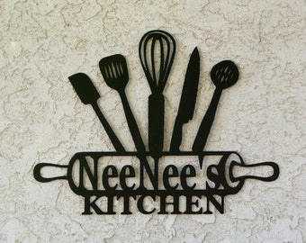 Kitchen Metal Sign   Kitchen Sign   Personalized Kitchen Sign