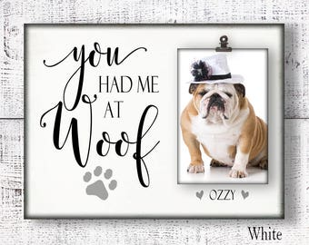 Personalized pet picture frame, Dog frame, pet frame, personalized frame, dog picture frame, pet sympathy gift, dog memorial gift CAN-201