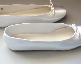 DIY Bridal Flats. Dyeable Ballet Slippers. Available in several sizes.