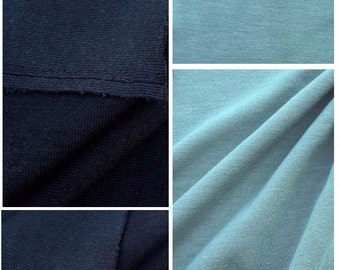 Double Face Cotton Jersey Knit Fabric (Wholesale Price Available By The Bolt) USA Made Premium Quality - 1046PR6 - 1 Yard