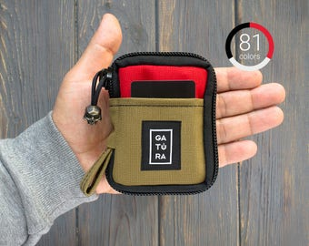 Cool wallets for men - Mens designer wallets  from Cordura. For keys, knifes, tools and flashlights. 81 combination of colors!