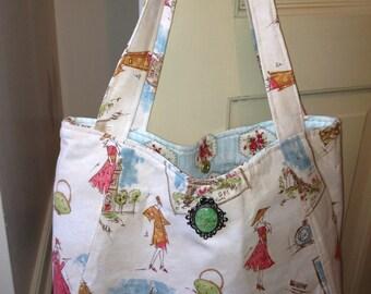 Paris Market Ashley Tote and Carry All, Women's Large Purse, Shopper, Market Bag, Shoulder Bag