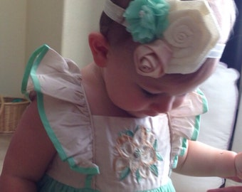 M2M Well Dressed Wolf-- Mint and Magnolia Baby Headband