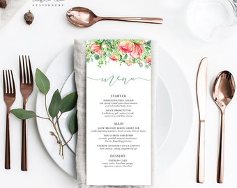 Country Charm - Menu Cards (Style 13798)